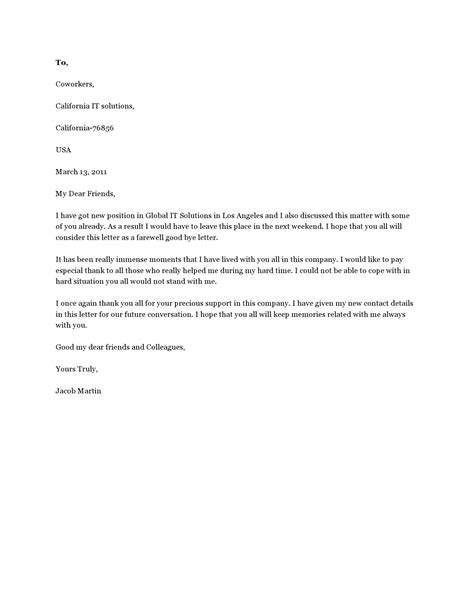 Resignation Letter Goodbye To Clients After Colleagues At Work Interview – resignation letter