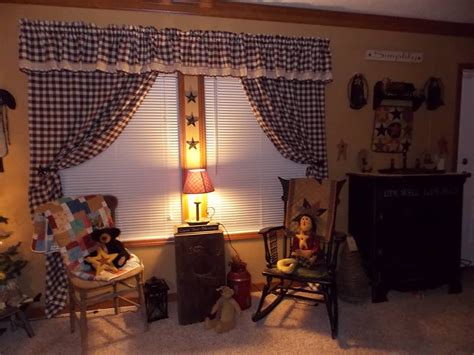 Primitive Living Room Curtains by Manufactured Home Decorating Ideas Primitive Country Style