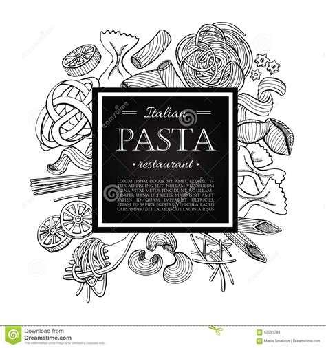 spaghetti clipart black and white vector vintage italian pasta restaurant illustration