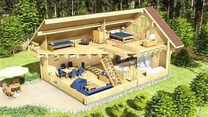 Chalet Bois Pas Cher : chalet en bois habitable 100m2 en 3 chalet en bois ~ Nature-et-papiers.com Idées de Décoration