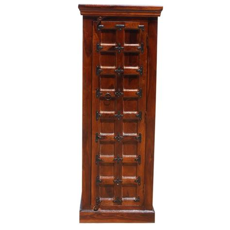 Thin Armoire by Lansing Solid Wood Narrow Armoire Cabinet With Shelves