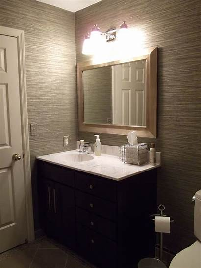 Grasscloth Bathroom Vinyl Bathrooms Guest Powder Modern