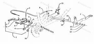 Arctic Cat Atv 2000 Oem Parts Diagram For Mechanical Brake