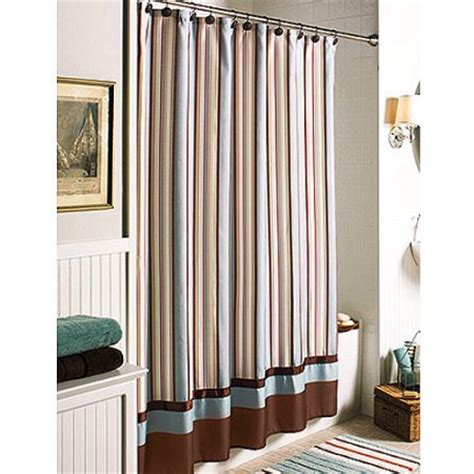black and white striped curtains walmart better homes and gardens citrus stripe shower curtain