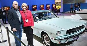 First Ford Mustang ever sold: Gail Wise, owner of sky blue Mustang convertible, says it's now ...