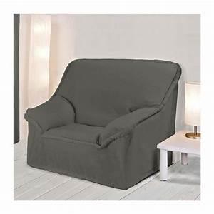 Housse Pour Canapé En Cuir : housse fauteuil a accoudoirs anthracite ~ Melissatoandfro.com Idées de Décoration