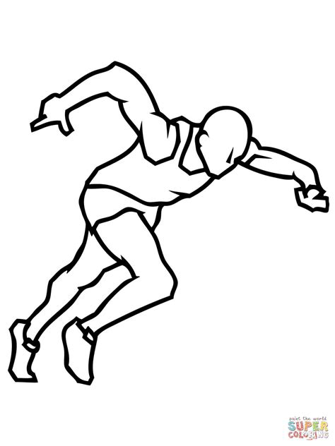 Atletiek Kleurplaat by Sprinter Coloring Page Free Printable Coloring Pages