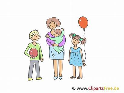 Clipart Mutter Drei Bild Kindern Tre Barn