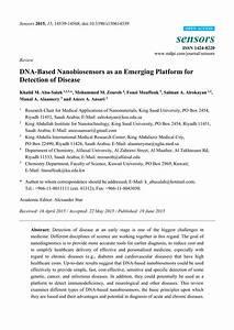(PDF) DNA-Based Nanobiosensors as an Emerging Platform for ...