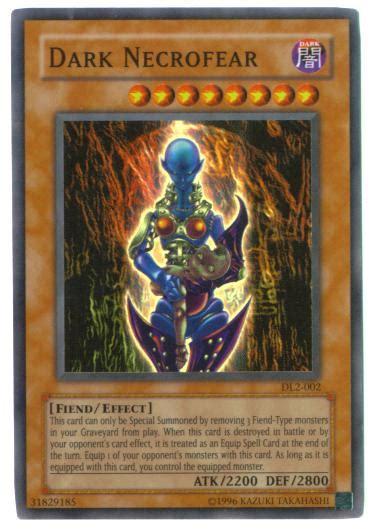 yu gi  card dl  dark necrofear super rare holo