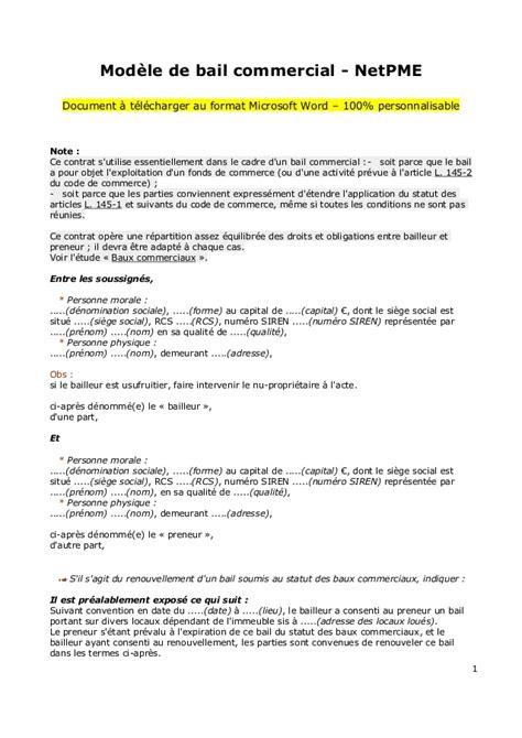 contrat location chambre modele bail document