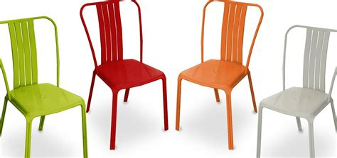 chaise exterieur pas cher chaise de jardin azuro orange lot de 2 achetez nos