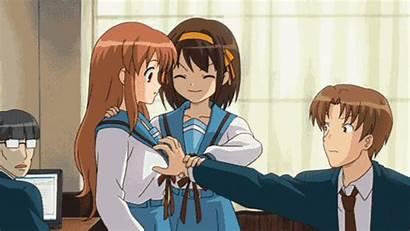Anime Haruhi Suzumiya Gifs Giphy Things Moe