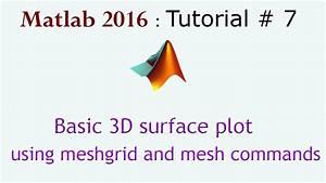 Basic 3d Surface Plot In Matlab Using Meshgrid And Mesh