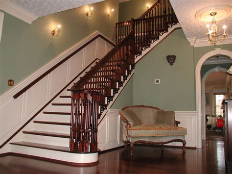 Foyer with Mahogany Staircase