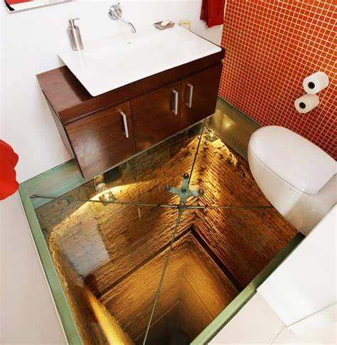 Do You Dare? Bathroom with Transparent Glass Floor