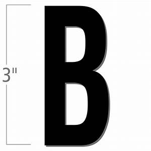 3 inch die cut magnetic letter b black sku nl mg 3 bk b With die cut magnetic letters