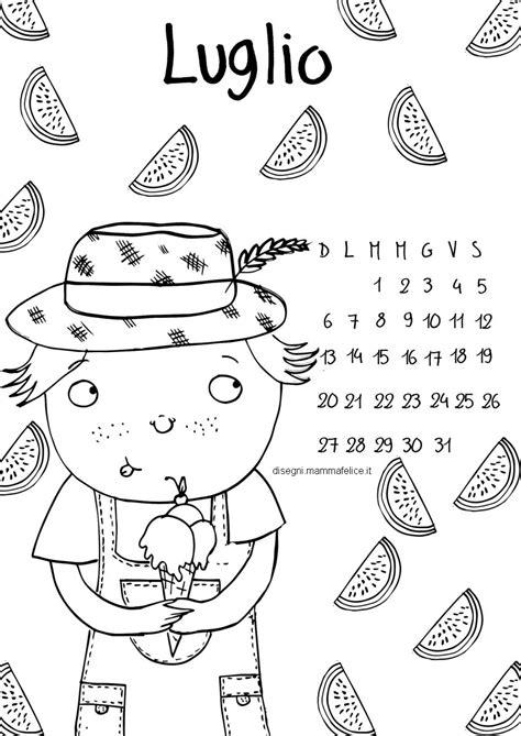 calendario mese di luglio 2019 da stare calendario da colorare il mese di luglio disegni