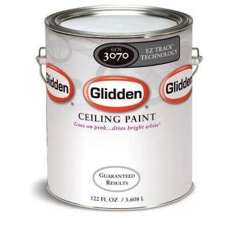 glidden 1 gal bright white flat ez track ceiling paint