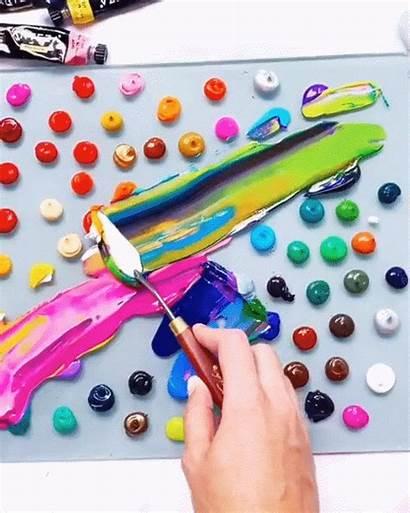 Acrylic Painting Paint Satisfying Abstract Peinture Artist