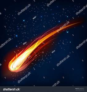 Comet In Space, Meteor And Energy, Asteroid Glow, Powerful ...