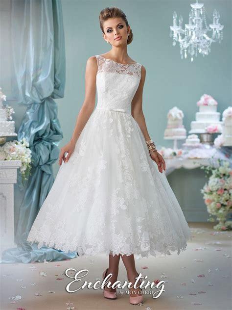 mon cher enchanting  tea length lace casual wedding