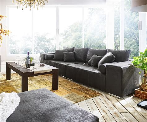 big sofa anthrazit big sofa marbeya 285x115 cm anthrazit antik optik 10