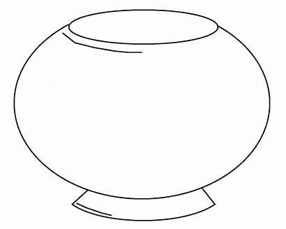 Bowl Fish Coloring Clipart Printable Clip Pages