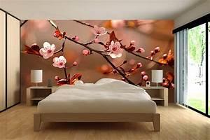 papier peint romantique izoa With chambre bébé design avec coeur fleurs artificielles