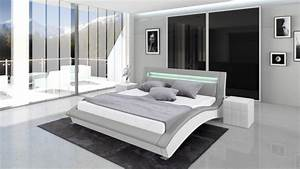 Lit Moderne Design : vente achat lit cuir paola lit design en cuir un lit moderne en cuir leds mobilier moss ~ Nature-et-papiers.com Idées de Décoration