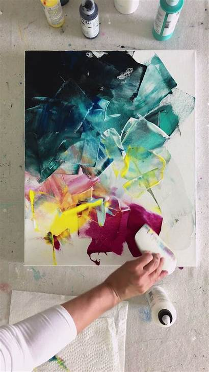 Painting Acrylic Canvas Abstract Simple Paint Paintings