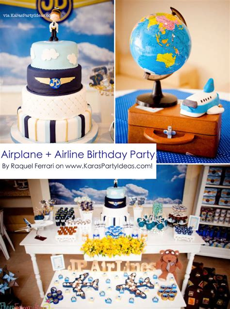 Kara's Party Ideas Airplane Airline Pilot Themed Boy 1st