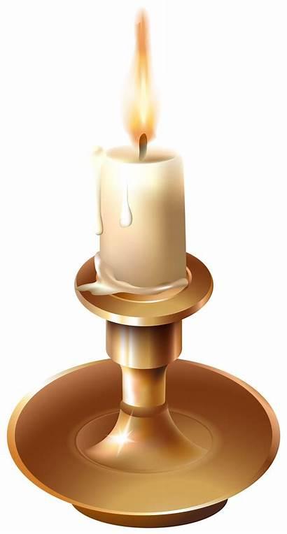 Candle Clip Clipart Candlestick Stick Vinatge Transparent