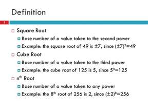 Resume Theme Square Root by Roots Of Real Numbers Definitions Simplifying Radicals Ppt