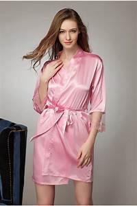 satin kimono robe wardrobe mag With robe fuchsia