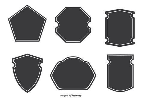 assorted badge shapes download free vector art stock graphics images