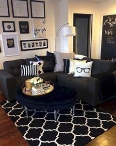 Black, White, And, Gold, Living, Room, Design, 5