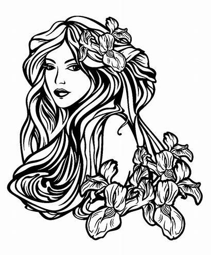 Coloring Tattoo Disegni Femme Woman Tatuajes Tatuaggi