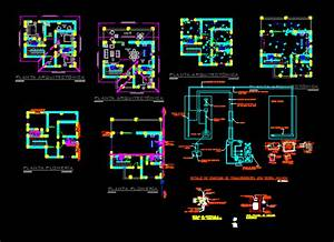 Sanitary Facilities And Electricas DWG Detail for AutoCAD