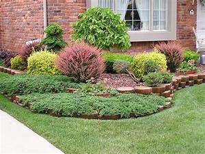 Small front yard landscaping house design with various for Shrub ideas for landscaping