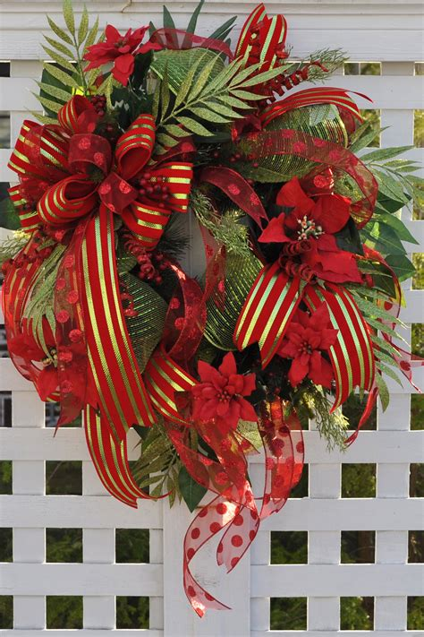 wreaths for christmas door wreath full of deco mesh ribbons
