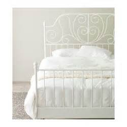 Leirvik bed frame white lur?y standard double ikea