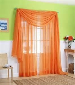 orange patterned curtains home design