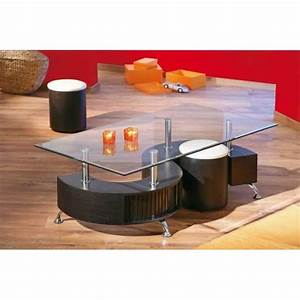 Table Basse Pouf Intégré : table basse s lidos avec 2 poufs decor wenge ~ Dallasstarsshop.com Idées de Décoration