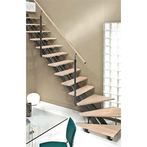 escalier interieur leroy merlin escalier quart tournant escatwin structure aluminium marche bois leroy merlin