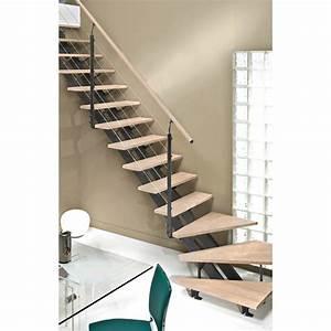 Escalier Quart Tournant Escatwin Structure Aluminium