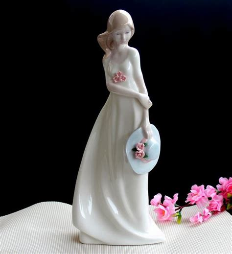 ceramic young girls lady figurines home decor crafts room decoration ceramic kawaii ornament