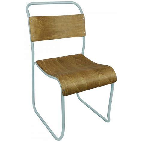 chaise metal bois chaise vintage bois et métal avior par drawer