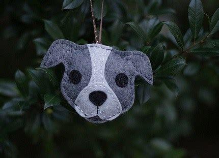 pattern felt pit bull christmas ornament sewing