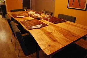 Live Edge Wood Counter Top Slab Counters - Contemporary
